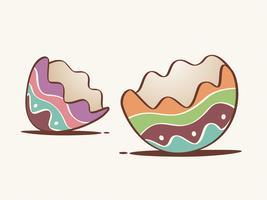 Casca de ovo rachada