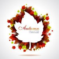 Folhas de outono vetor