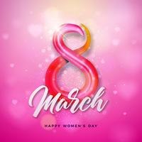 8 de março projeto do dia das mulheres felizes vetor