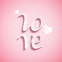 Tipo de fonte LOVE no Dia dos Namorados