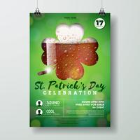 Ilustração de panfleto de festa de dia de São Patrício vetor