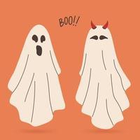 fantasmas voadores halloween assustador monstros fantasmagóricos personagens de desenhos animados vetor