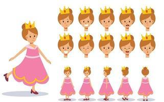menina fantasiada de princesa para o festival de halloween. vetor