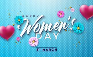 Feliz dia das mulheres vetor