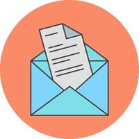 ícone de carta de vetor