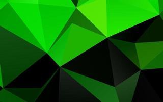 luz verde vetor brilhando modelo triangular.