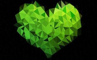 luz verde vetor poligonal padrão.