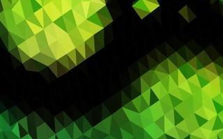 fundo abstrato do polígono do vetor verde claro.