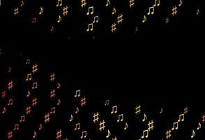modelo de vetor amarelo escuro, laranja com símbolos musicais.