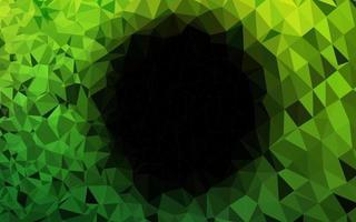 luz verde vetor brilhante padrão triangular.