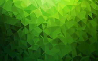fundo de mosaico abstrato de vetor verde claro.