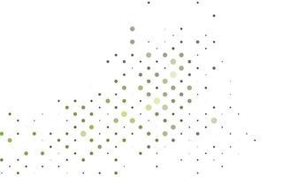 layout de vetor verde claro com formas de círculo.
