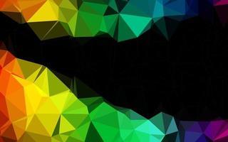 textura de baixo poli de vetor de arco-íris multicolorido escuro.