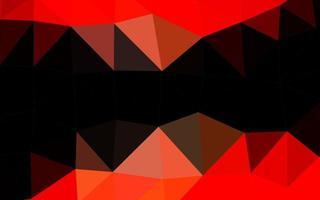 layout abstrato do vetor polígono de luz vermelha.