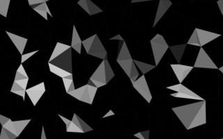 prata escura, fundo abstrato do polígono do vetor cinza.