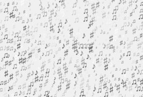 prata clara, padrão de vetor cinza com elementos musicais.