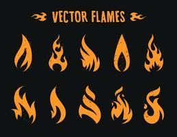 Ícones de fogo de vetor