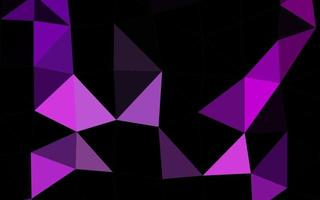 layout abstrato do polígono do vetor roxo claro.