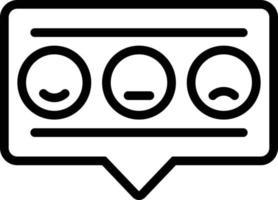 ícone de linha para feedback vetor
