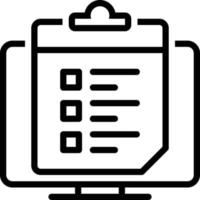 ícone de linha para lista de pesquisa vetor