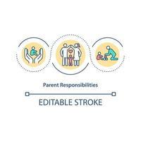 ícone do conceito de responsabilidades dos pais vetor