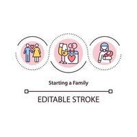 ícone do conceito de família inicial vetor