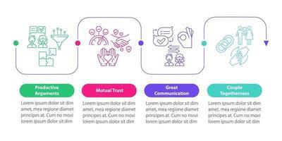 modelo de infográfico de vetor de confiança mútua