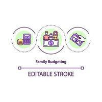 ícone do conceito de orçamento familiar vetor
