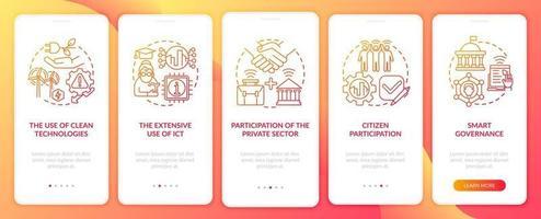 instrumentos de tela de página de aplicativo móvel de integração urbana inteligente vetor