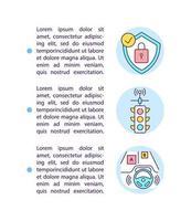ícones de linha de conceito de gerenciamento de tráfego com texto vetor