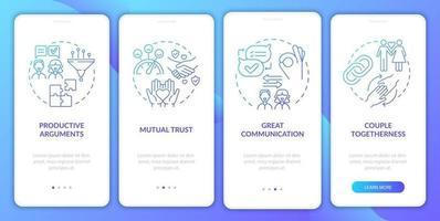 relacionamento perfeito na tela da página do aplicativo móvel vetor