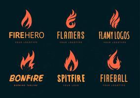 Logotipos de fogo do vetor