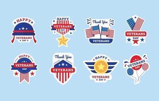adesivo do dia dos veteranos vetor
