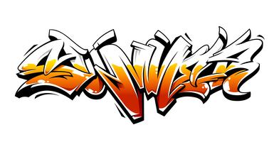 Letras de vetor de grafite de verão