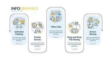 modelo de infográfico de vetor de opção de mensagens de negócios