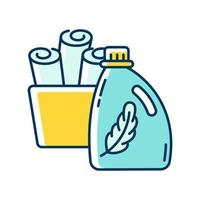 ícone de amaciante de cores rgb azul e amarelo vetor
