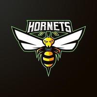 Modelo de logotipo de equipe esports com ilustração vetorial de vespas vetor