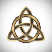 ouro símbolo triquetra vetor
