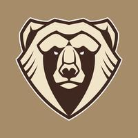 Ícone de vetor de mascote de urso
