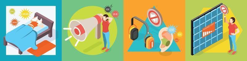 conceito de design de poluição sonora vetor