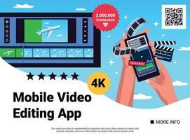 composição de aplicativo de mãos para smartphone vetor