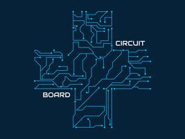 Incrível placa de circuito impresso vector