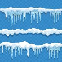 conjunto de bordas da calota de gelo vetor
