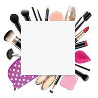 maquiagem coloração composição realista vetor
