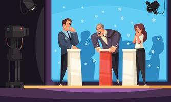fundo colorido de talk show político vetor