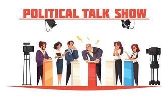 ilustração de talk show político vetor