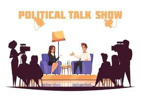 programa de televisão de talk show político vetor