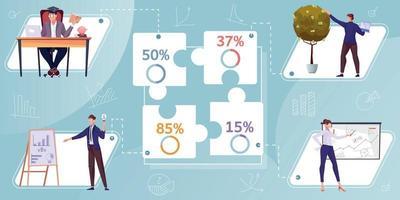 infográficos planos de investimento financeiro vetor
