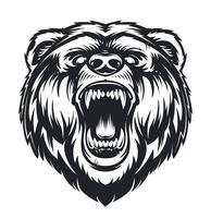 Urso Rugindo de vetor