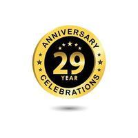 Ilustração de design de modelo vetorial celebração de aniversário de 29 anos vetor